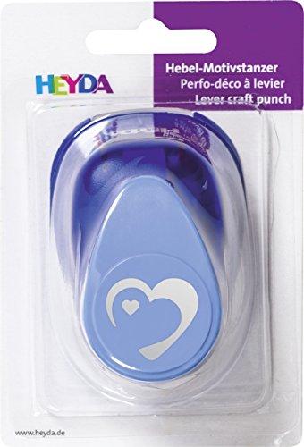 HEYDA Motiv-Locher Herz, gro , Farbe: blau VE = 1
