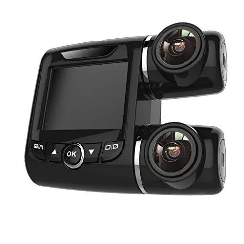 fang FANS Auto Dash Camera Full HD 1080P Auto Kamera Autokamera USB-Auto-DVR, der Recorder-Kamera Dash Cam Dual FHD 1920x1080P Front- und Kabinen-Dash-Kamera für Pkw-LKW-Taxis (Black)