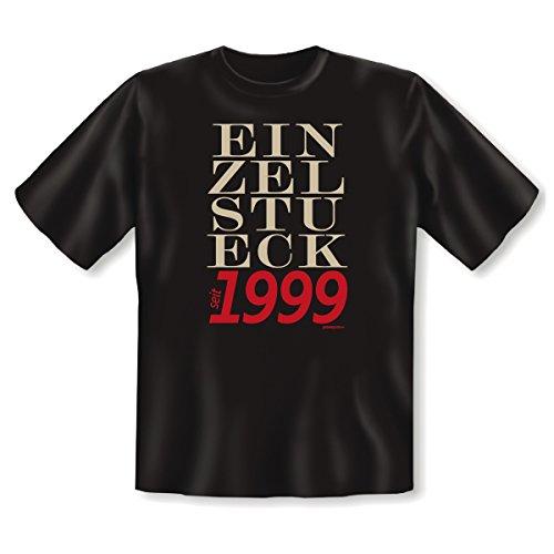 EINZELSTUECK 1999 - Cooles T-Shirt zum Geburtstag. Top Geschenk oder Mitbringsel. Lustige Sprüche. Schwarz (Gesicht, T-shirt Cool Funny)
