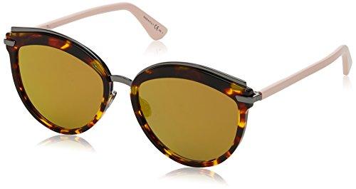 Dior Damen DIOROFFSET2 83 01K Sonnenbrille, Pink (Havana Ltpnk/Brw Gd Grey Speckled Ar Marl), 55