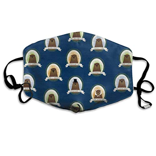 Desing shop Cute Famous Groundhogs Blue Non-Toxic Dust & Filter Safety Masks