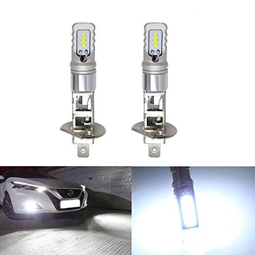 Auto LED Licht Birnen CSP Chip Auto Ersatz für Nebel Licht lange Lebensdauer über 30,000hs extrem helle LED-Lampe Lampe 1600–2Stück (weiß) H3 Führte Nebel-licht-lampe