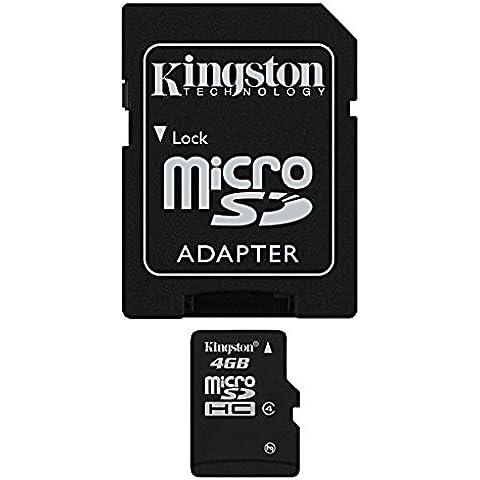 Kingston SDC4/4GB - Tarjeta micro SDC4/4GB (SDHC clase4,  4 GB con adaptador)