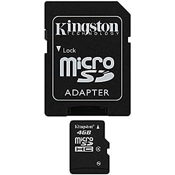 Kingston SDC4/4GB Memoria MicroSDHC con Adattatore SD, 4 GB, Class 4