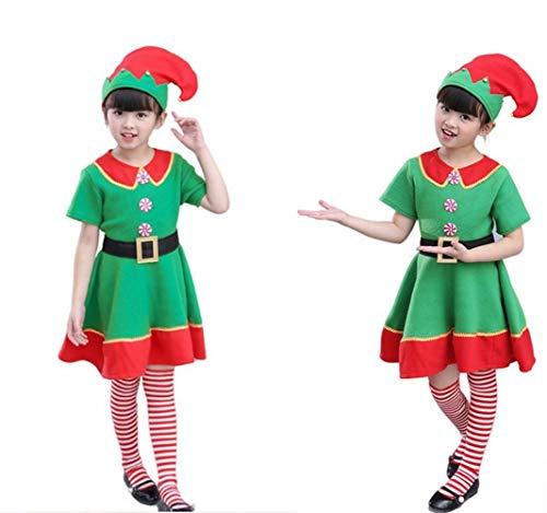 IG Halloween Kinder Kleidung Mädchen Weihnachten Elf Kostüm Jungen Cosplay Rollenspiel Umwelt Leistung Kostüme,Für Frauen,170 cm
