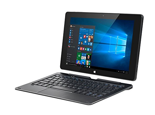 Krüger&Matz KM1086LTE 2_in_1 Tablet (Intel Atom x5-Z8350, 2GB RAM, Win 10 Home) grau/schwarz
