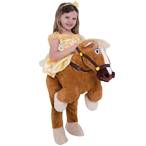 Kinder Pony Kostüm - Morph Costumes MLKDRPBES Princesses Philippe Pony Prinzessinen, Mädchen, Belle, 3-4 Years