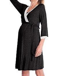 MEIHAOWEI Damen Mutterschaft Nachthemd Pflege Nachthemd Stillen Nachthemd Nachtwäsche