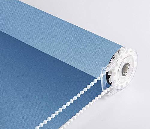 dusg Estor Enrollable La instalación de perforación de Color Azul Claro con sombreado Completo se Puede Personalizar tamaño 55 × 100 cm