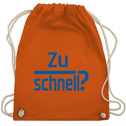 Laufsport - Zu schnell - Unisize - Orange - WM110 - Turnbeutel & Gym Bag (Marathon Kordelzug)