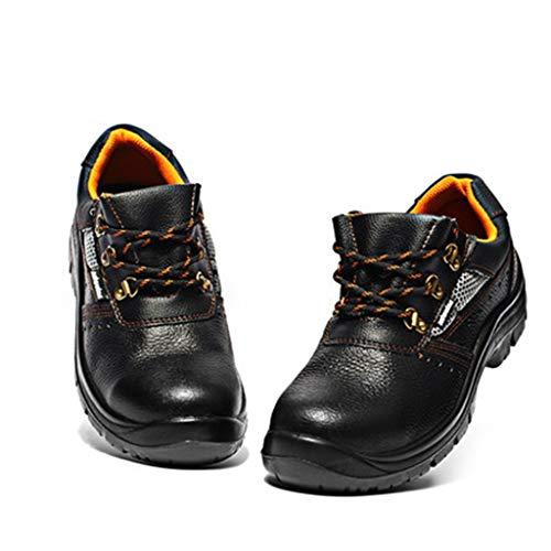Djpcvb Scarpe da Lavoro Scarpe da Lavoro estive da Uomo Scarpe da Lavoro da Uomo in Acciaio con Puntale Anti-graffio Scarpe da Lavoro Elettricista Anti-Piercing (Size : 45)