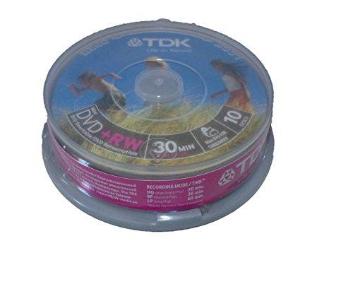 TDK - Pack 10 DVD+RW 1
