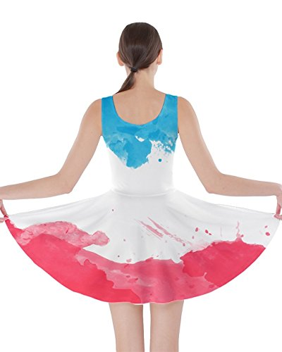 CowCow-Womens-Euro-Flags-Fairytale-Beast-Carnival-Puppet-Fairytale-Princesses-Double-Sided-Skater-Dress-SizeXS-5XL