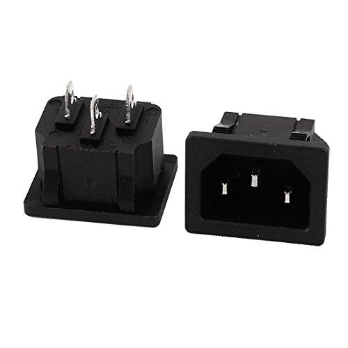 Sourcingmap® 2 STK. AC 250V 10A IEC 320 C14 Plattenmontage Adapter Steckdose Buchse DE de - Iec Steckdosen