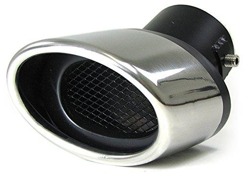 Preisvergleich Produktbild Carparts-Online 26368 Sport Endrohr Edelstahl universell oval zum Anschrauben