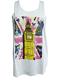 Trendy London - Camiseta sin mangas - Chaleco - para mujer