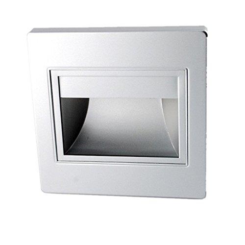 Generic 1.5W LED Wandleuchte Treppenlampe Deck Lampe 86 * 86mm - Silber Warmweiß , 95mm