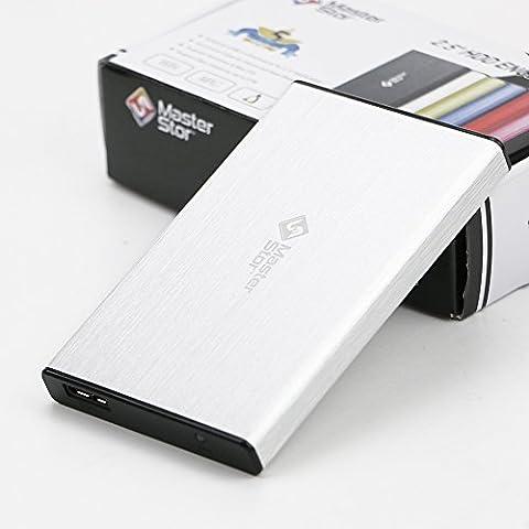 MasterStor 1 an garantie 250 Go disque dur Portable USB 3.0 disque dur ultra rapide pour Windows, Mac Book et Mac disque dur externe portable argent