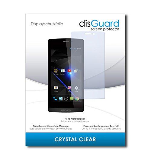 disGuard® Bildschirmschutzfolie [Crystal Clear] kompatibel mit Archos 50 Diamond [4 Stück] Kristallklar, Transparent, Unsichtbar, Extrem Kratzfest, Anti-Fingerabdruck - Panzerglas Folie, Schutzfolie