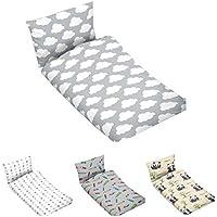 1fe8af4c89 Bettwäsche Kinder Baby Bettgarnitur 100x135 aus Reiner 100% Baumwolle in  Grau mit Wolken