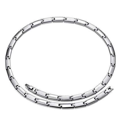 AX-outdoor products Silberne Magnethalskette für Männer, High Power Magnet, 50 cm lang, lindert effektiv Gelenkschmerzen