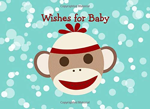 Sock Monkey Baby Shower Guest Book (Sock Monkey Party Supplies)
