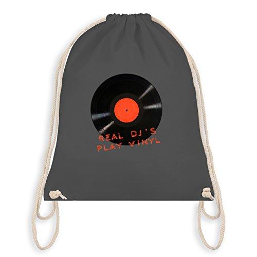 Techno & House - Real DJ's play Vinyl - Unisize - Dunkelgrau - WM110 - Turnbeutel I Gym Bag