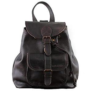 LE BAROUDEUR Marrón Oscuro mochila de cuero bolso de excursión estilo vintage y retro vintage PAUL MARIUS