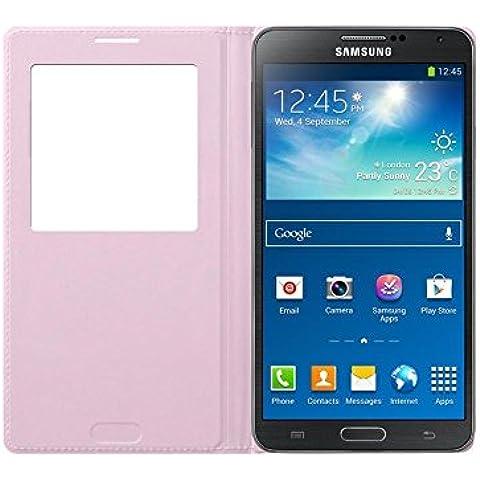 Samsung S-View - Funda para móvil Galaxy Note 3 (Con pantalla frontal), rosa