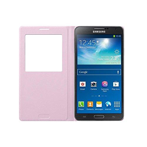 Samsung S-View Schutzhülle Premium Flip Case Cover für Samsung Galaxy Note 3 - Pink (Samsung Galaxy Note 3 Tablet-fall)