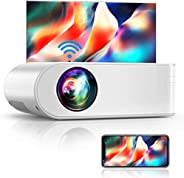 Proyector WiFi, YABER Mini Proyector Portátil 5800 Lúmenes 1080P Full HD[Pantalla de Proyector Incluida], Cine