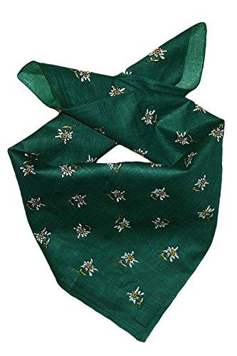 Edelnice Trachtenmode Trachten Halstuch aus Baumwolle viele (grün)