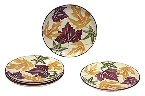 4Stück Autumn Leaves Dessert & Snack Teller von Hues & Braut Autumn Leaves Teller