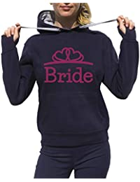 Bride Bride Capucha Bachelorette Party Bachelor Capucha Bride Team Capucha Hen Party Pink Heart Sudadera Negro