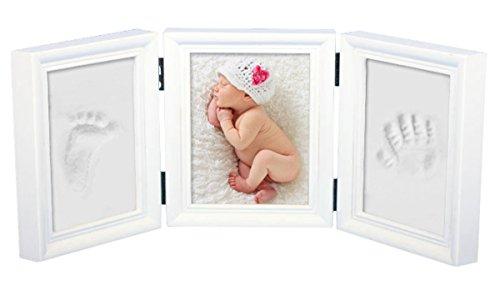 Babyin, kit per prendere le impronte di mano e piede del bambino e inserirle in una cornice di legno di qualità