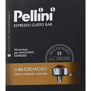 Pellini Caffè Espresso Gusto Bar Macinato per Macchina Espresso N.46 Cremoso, Confezione da 2 x 250 gr (500 gr)
