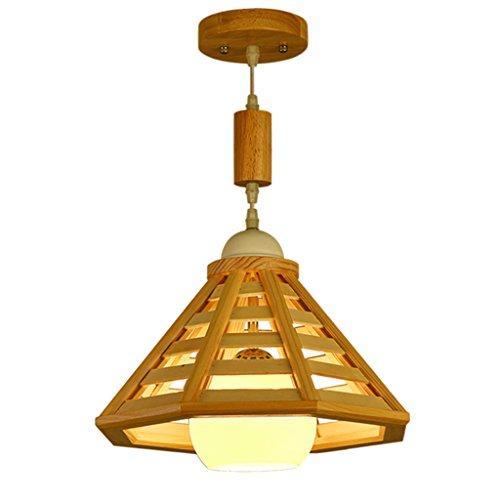 Mjd Kronleuchter Nordic Einfache Kronleuchter Kreative Balkon Gang Holz Beleuchtung Flur Garderobe Einzelkopf Holzbeleuchtung Lampe (Antike Weiße Milch Malen)