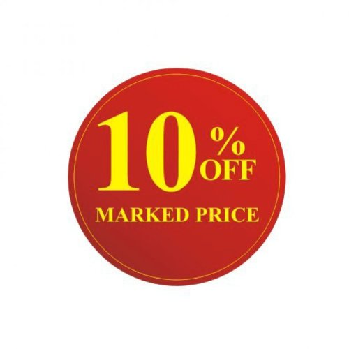10% off Marked Price Sale Stickers x 70 Stickers