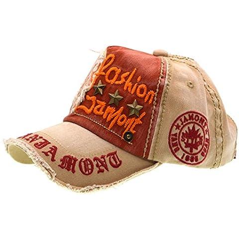Carta Patch Remaches Casual gorra de béisbol de algodón y sombrero al aire libre de moda para hombres y mujeres, de color caqui, iParaAiluRy