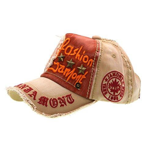 Baumwolle Baseball Cap, Basecap - iParaAiluRy Unisex Baseball Kappen, Baseball Mützen für Draussen, Sport oder auf Reisen - Letter Patch...