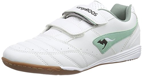 KangaROOS Power Court, Unisex-Kinder Hallenschuhe, Weiß (white/blue surf 084), 28 EU