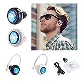 Produkt-Bild: Porum Kabelloses Bluetooth-Headset, Freisprecheinrichtung, Kopfhörer, Stereo-Ohrhörer, In-Ear-Handy-Kopfhörer, mit Mikrofon für Microsoft Lumia 650
