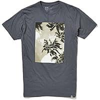 Reef Palm Dots-Maglietta da uomo, colore: carbone, taglia: M