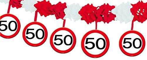 23-tlg. Partyset 50. Geburtstag Dekoset Dekobox – Verkehrschild – Girlanden, Luftballons - 3