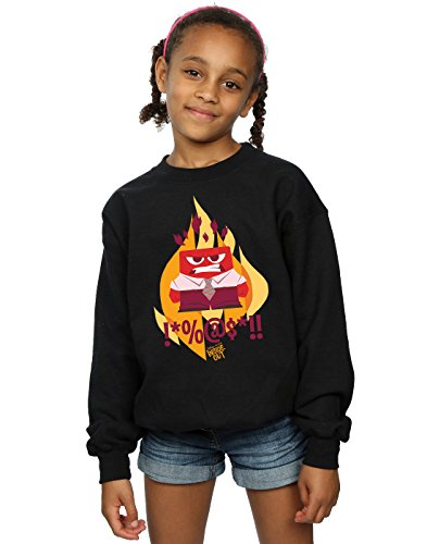 Disney Mädchen Inside Out Fired Up Sweatshirt 5-6 Years (Disney Pullover Up)