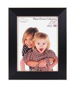Inov8 Cadre photo 20 x 15 cm Noir cendré/liseré or Produit traditionnel britannique
