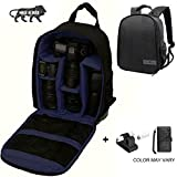 Brain Freezer J DSLR SLR Shoulder Backpack Case for Canon, Nikon, Sigma and Olympus Camera (Dark Blue)