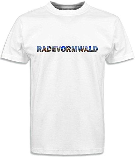 T-Shirt mit Städtenamen Radevormwald Weiß