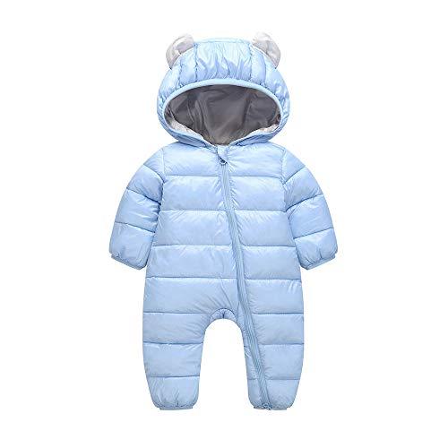 Fairy Baby Toddler Bébés Garçons Filles Hiver Vêtements d'extérieur Combinaison Size 70(6-12 Mois) (Bleu) (Veste Costume Bleu)
