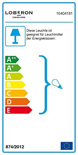LOBERON Stehlampe, Messing, H/Ø ca. 171/25 cm, messing, Energieeffizienzklassen A++ bis E
